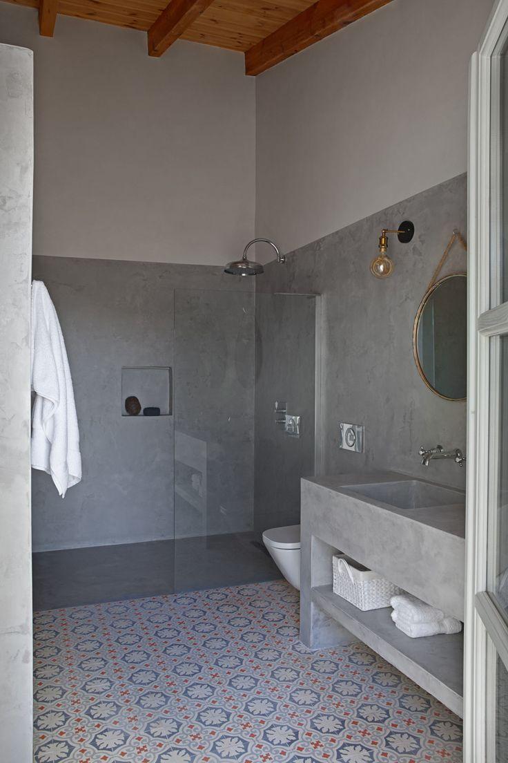 Baños de microcemento, baldosas hidráulicas y suelos de ...