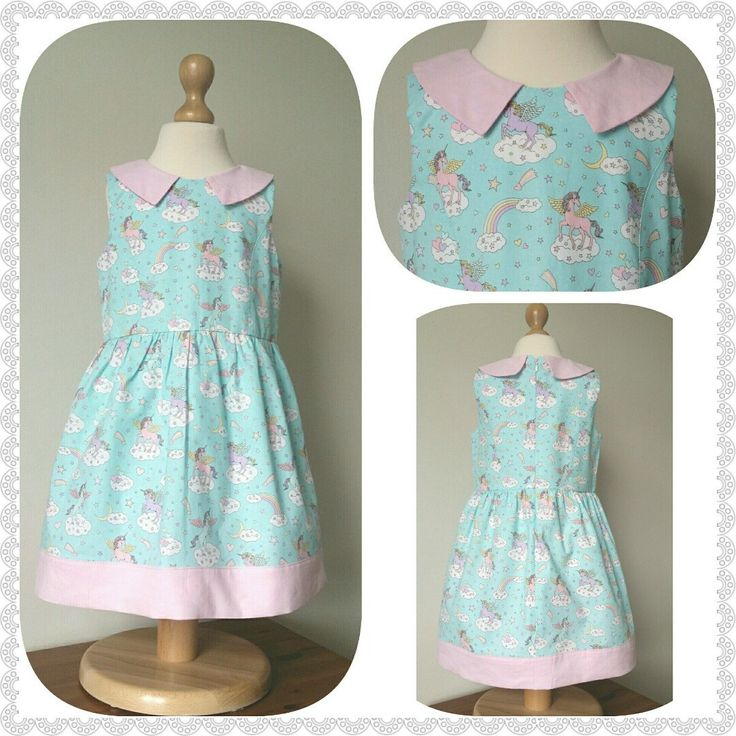 I've made a couple of these gorgeous unicorn dresses this week. Mint & pink one of my favourite combinations. I do love this japenes cotton so different.