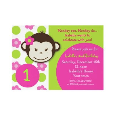 I like the wording on this invite, but the invitation is cute also.  I want to add her picture though!!