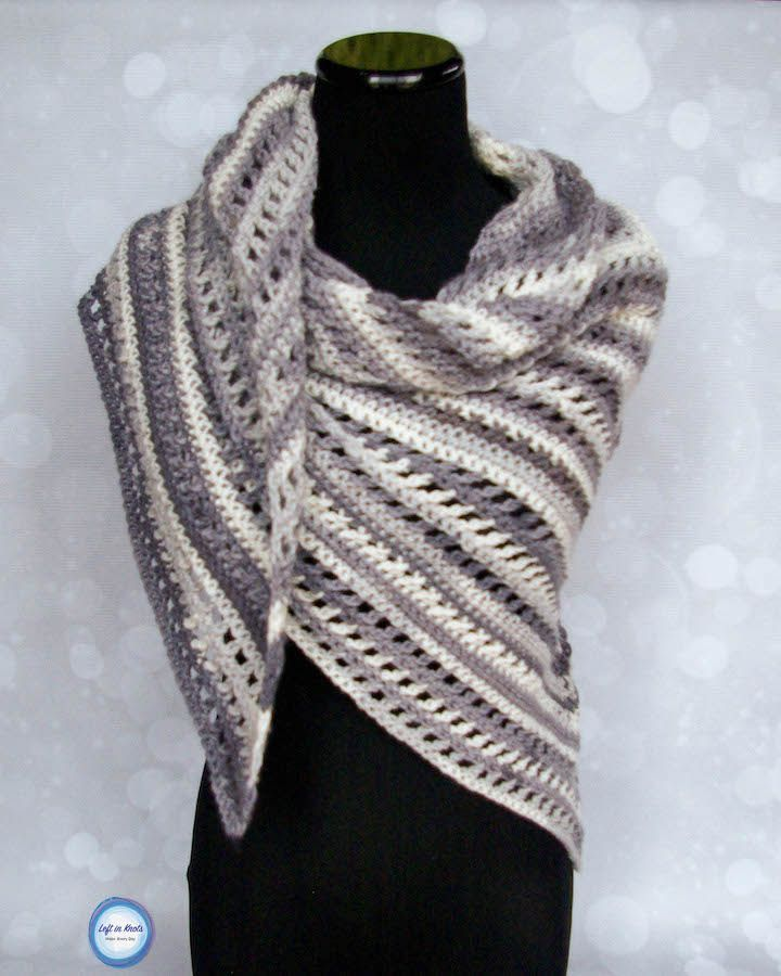 With just two skeins of Lion Brand Ice Cream yarn and this free pattern you can crochet this beautiful, summer weight shawl!