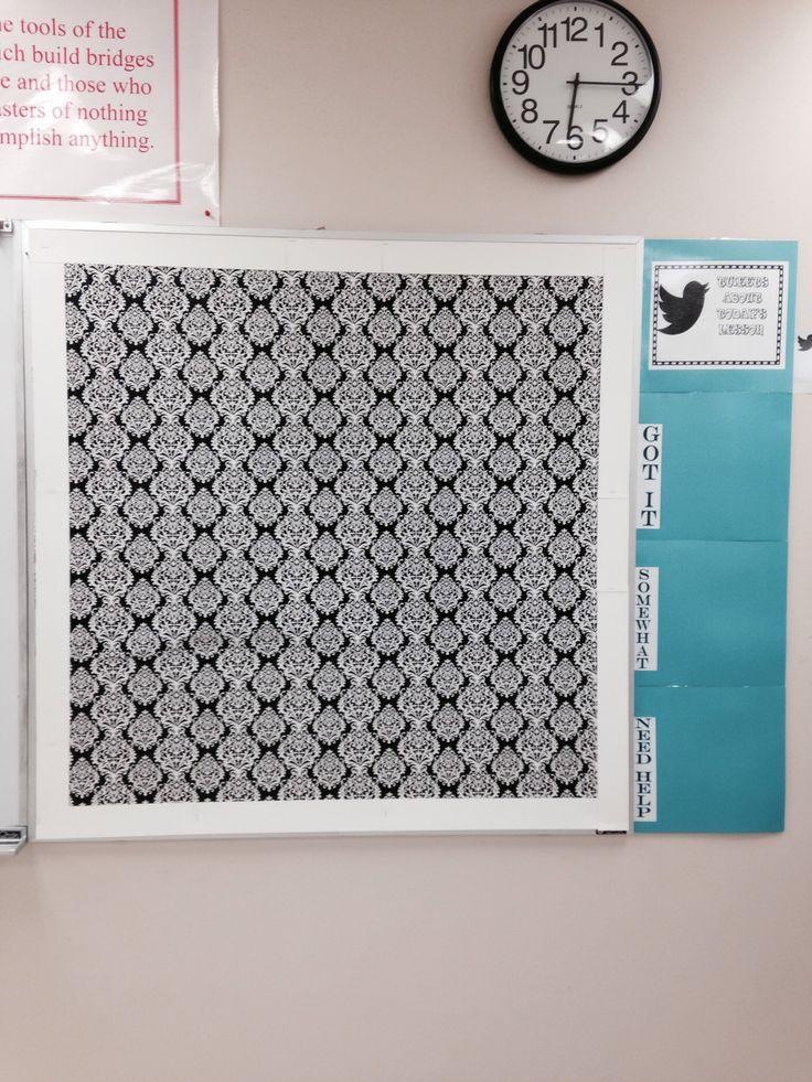 Chic bulletin board with Tweet Board