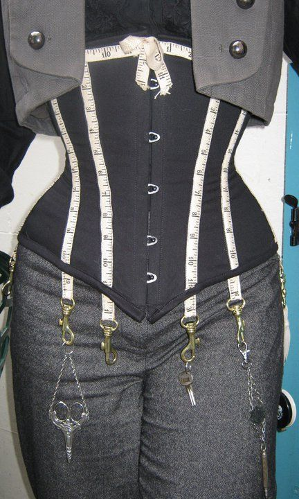 Corset by Wyte Phantom  - Ok, I wish I had done that....DAMN, now I want one just like it for my steampunk seamstress.