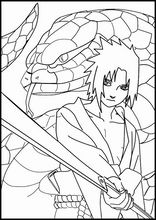 Coloring book. ColouringSasuke Uchiha2