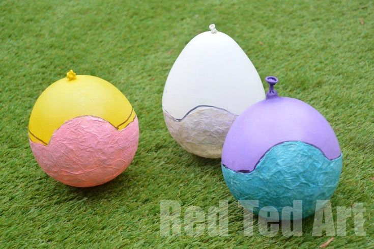 Tissue Paper Mache Easter Crafts - Red Ted Art's Blog