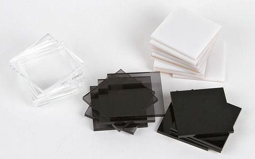 "BLACK ACRYLIC Plexiglas sheet 1/8"" thick, 12"" x 12"""