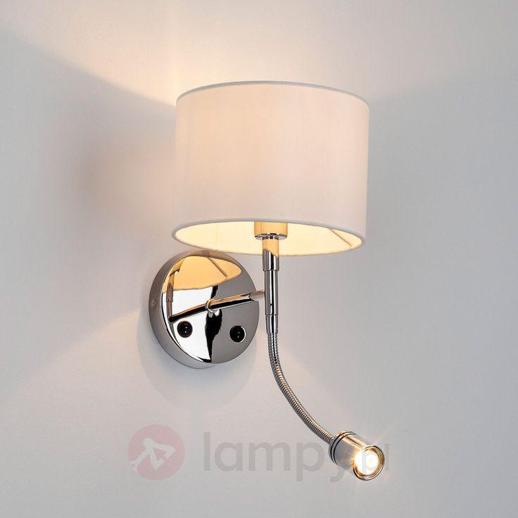 RIAN – lampa ścienna z materiału z lampką LED 9612008