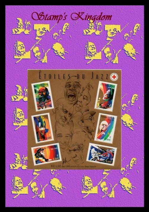 Jazz, Louis Armstrong, Ella Fitzerald, Duke Ellington, Stéphane Grappelli, Michel Petrucciani, Sidney Bechet, Philatélie, Montage numérique  #Artetcollections #Dessinetillustration #Numérique #Jazz #LouisArmstrong #EllaFitzerald #DukeEllington #StéphaneGrappelli #MichelPetrucciani #SidneyBechet #Philatélie #Montagenumérique #CadeaudeNoël #Timbreposte #madeinFrance #modèleunique