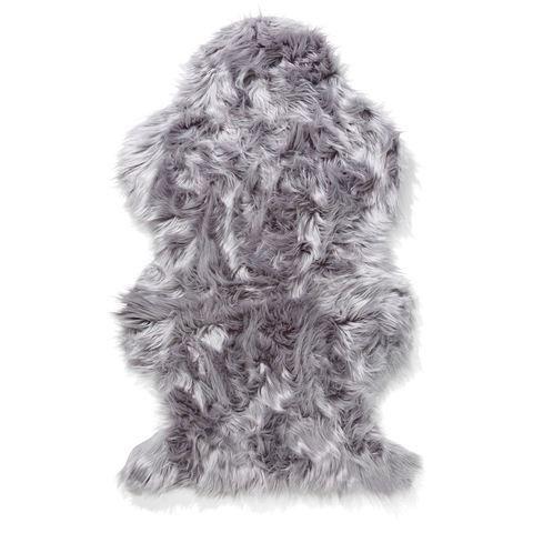 Wellington Faux Fur Rug - Grey