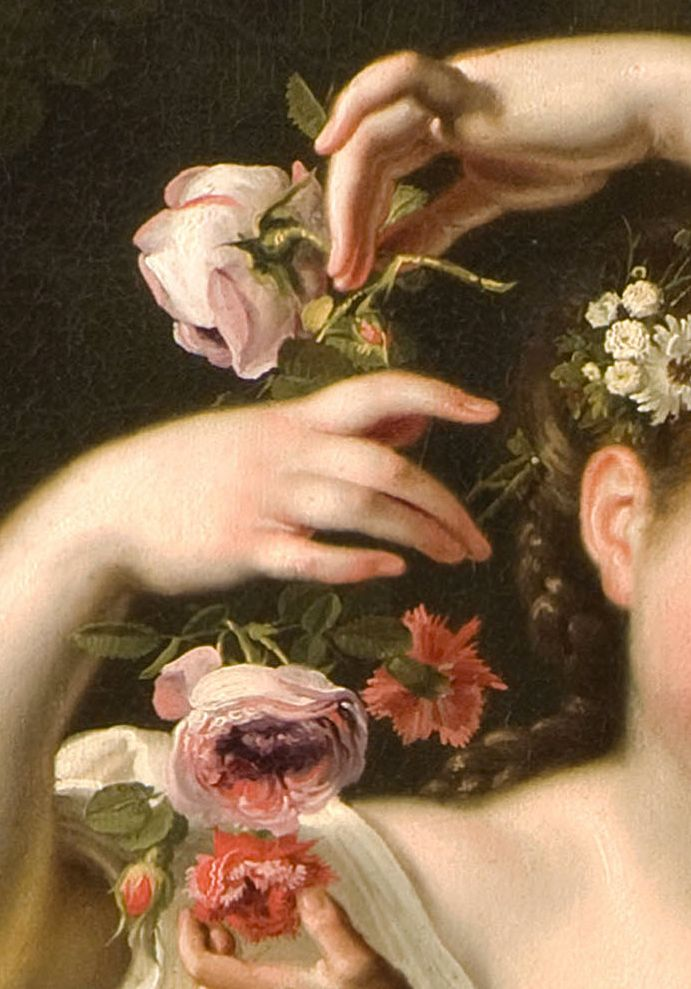Bartolomeo Guidobono, Allegory of Spring,detail,c.1705-9