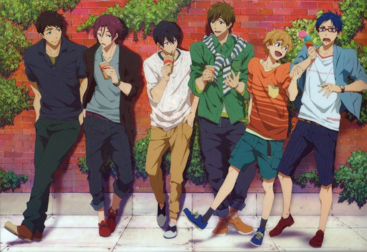 "All my OTP's in a ""straight"" line XD #sourin #makoharu #reigisa"