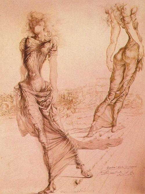 """Salvador Dali (1904-1989) """"Gradiva, She who Advances"""" (1939)"""