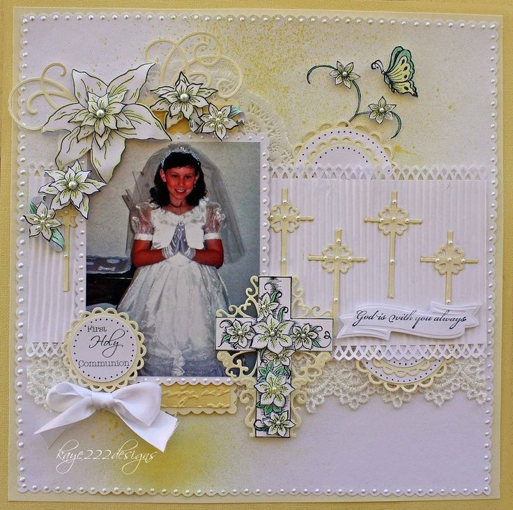 44 best images about first communion scrapbooking on for First communion craft ideas