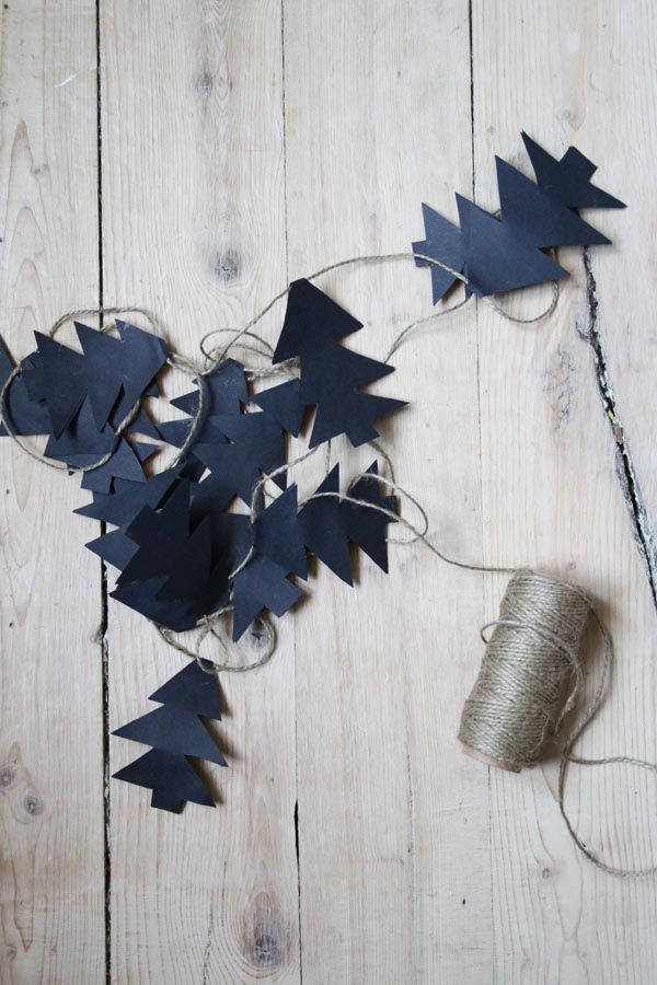 Christmas tree bunting - would make a cute childrens room decoration