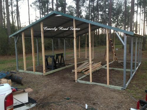 Carport coops and barns starting at 695 only 10 Down Payment  Barns  Goat barn
