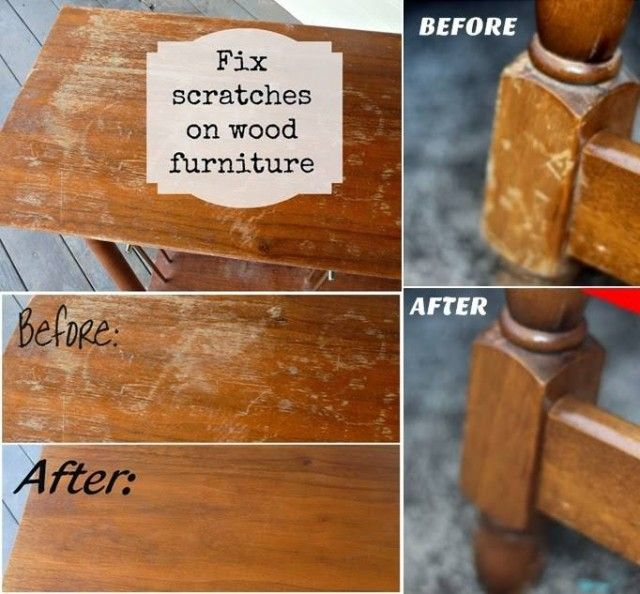 How To Fix Scratches On Wood Furniture For The Home Pinterest To Fix Wood Furniture And Woods