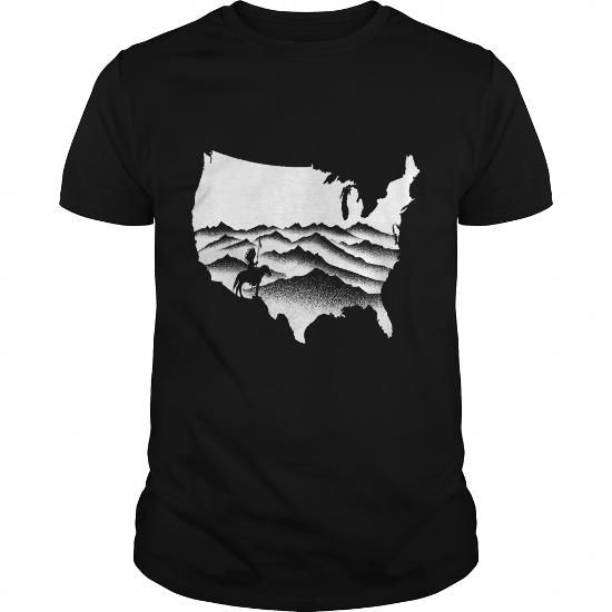 Awesome Tee Native American america patriot USA t shirt T shirts