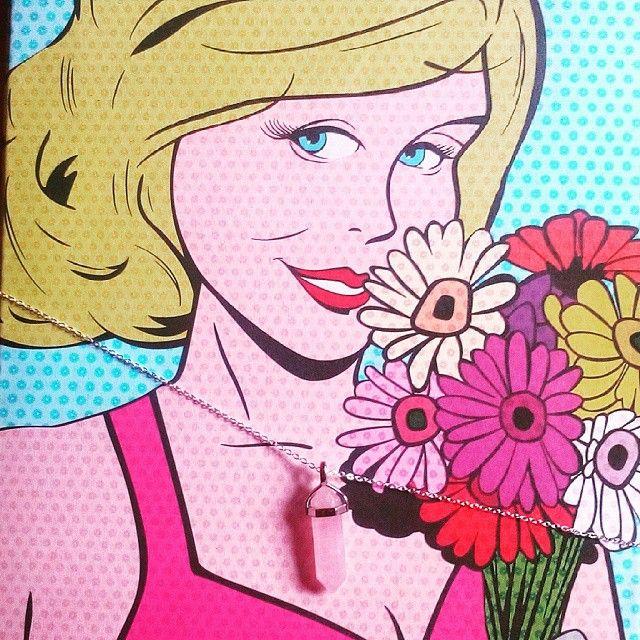 Zenzero nyaklánc új barátnőmön. ;) #zenzero #mik #ikozosseg #accessories #necklance #love #rose #popart
