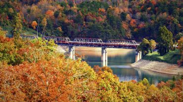 Great Smoky Mountains Railroad offers scenic round-trip excursions in the North Carolina mountains.