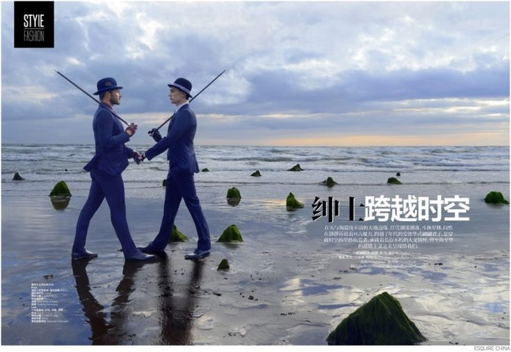 Paul Sculfor + Lew Parker Travel Across Space & Time for Esquire China image Esquire China Fashion Editorial 001 800x552