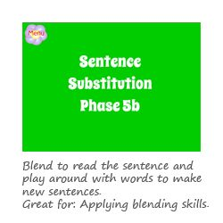 Sentence Substitution Phase 5 phonics game
