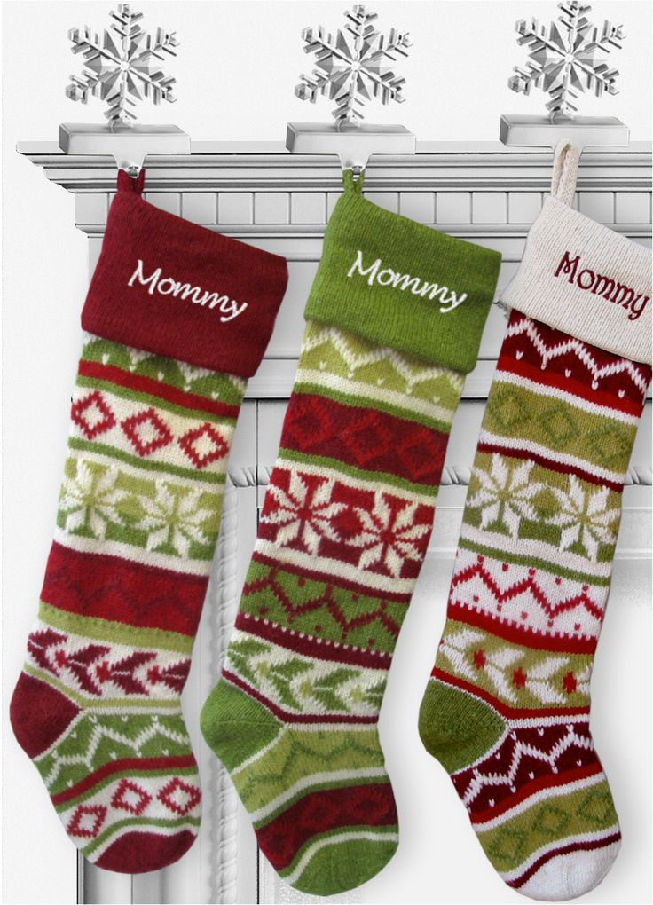 Personalized Knit Christmas Stockings