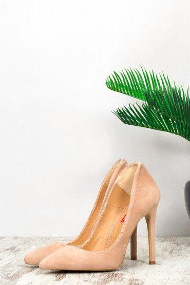 Exclusiv! NEW Pantofi Stiletto Bianca din Velur Natural