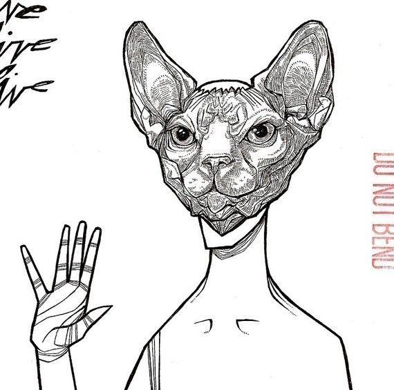 Sphynx Cat Mask ☆ Cat art sphinx