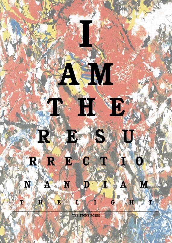 I Am The Resurrection another poster I really need!
