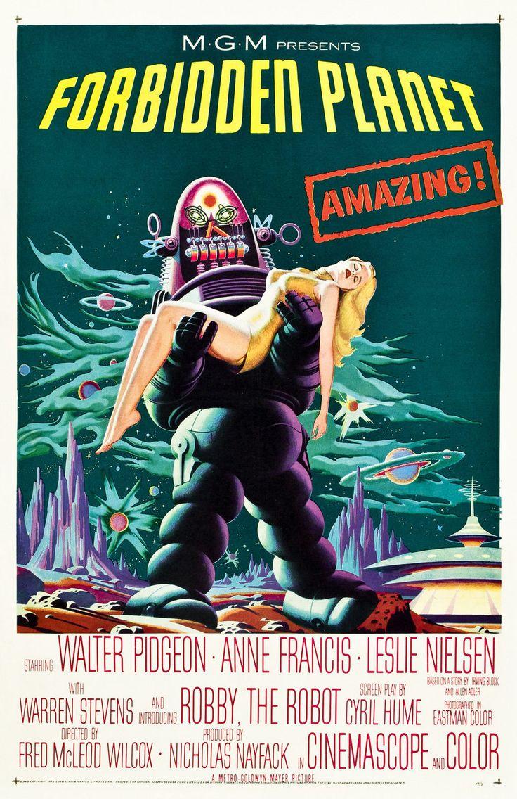 Old Vintage Movie Film Poster Forbidden Planet