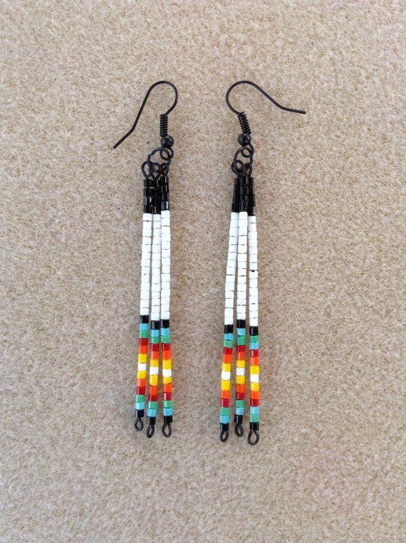 Traditional Native American style seed bead earrings by Beadcracka