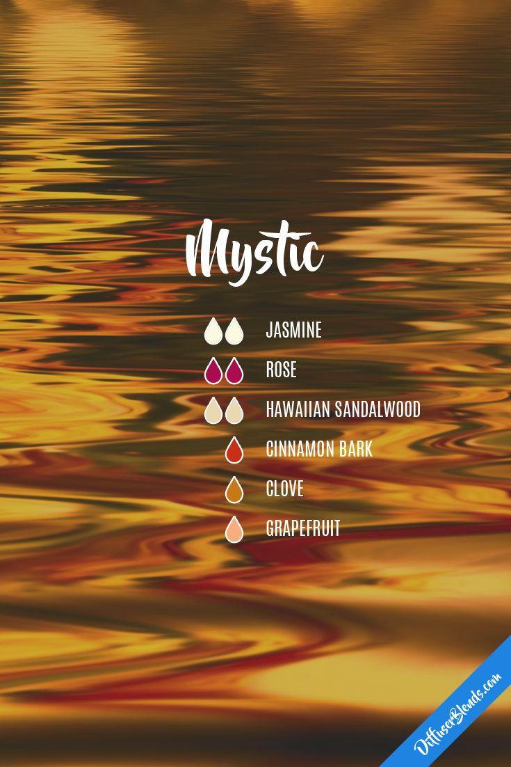 mystic eo blend : jasmine, rose, hawaiian sandalwood, cinnamon bark, clove, peppermint