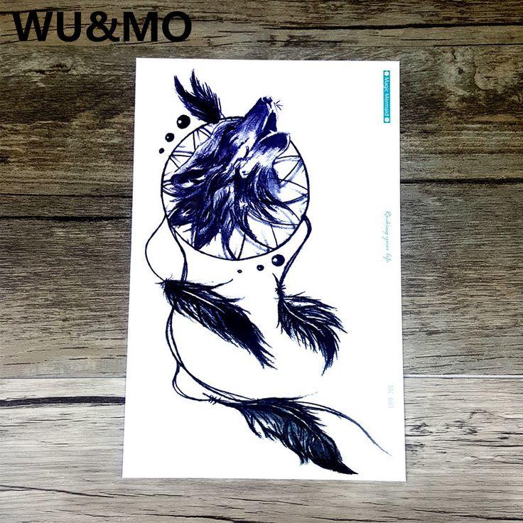 Green tattoo fashion personality wolf Dreamcatcher tattoo tattoo stickers wholesale custom MC-681 WU&MO
