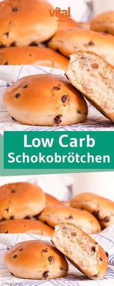 Rezept für low Carb Schokobrötchen. Unsere gesunden Schokoladenbrötchen eignen sich perfekt zum Frühstück.