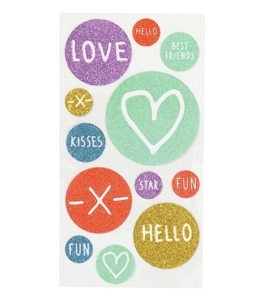 glitter stickers - HEMA