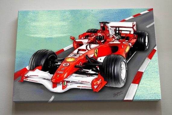 Race Car Nursery Canvas Art   Race Car Wall Hanging by MuralMAX, $65.00