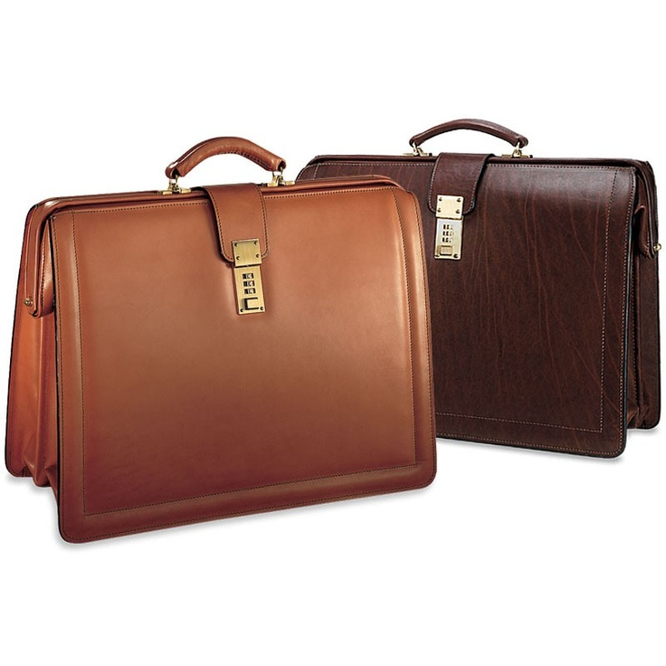 Jack Georges Belting Collection #9005 Triple Gusset Classic Leather Briefbag
