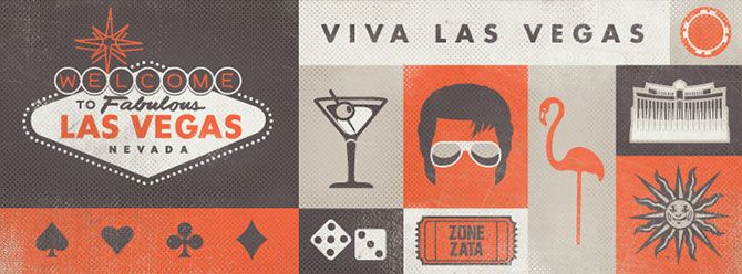 Vegas web banner. A series of web banners illustrated by Tim Sullentrup