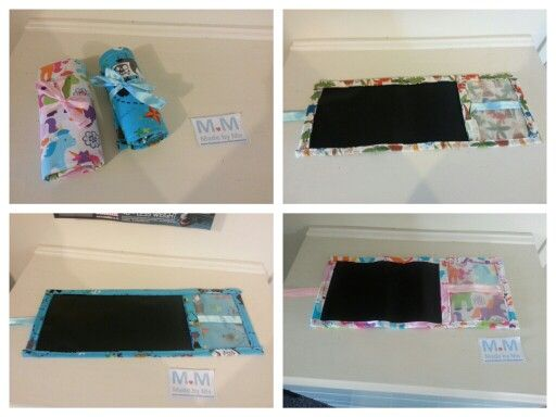 Chalkboard Roll Ups...check them out at www.facebook.com/bdmadebyme