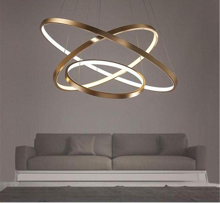 Led Swirl Six Ring Chandelier Pendant Light Contemporary: Modern Swirl LED Ceiling Light