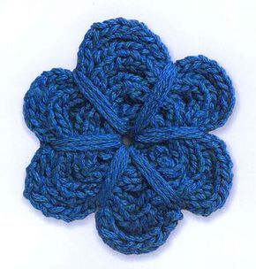 Pretty flower to knit! Click here for pattern: Flower Pattern