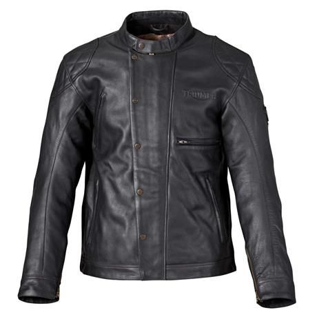 "McQueen Desert Racer Jacket for Men | Triumph Motorcycles | Leather motorcycle jacket inspired by the ""King of Cool,"" Steve McQueen"