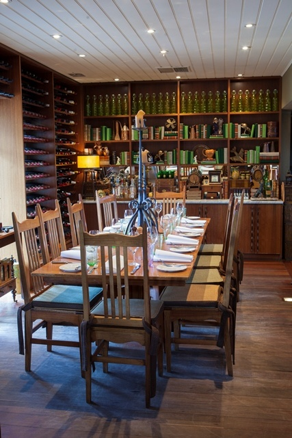 For 8 to 12 people, the Library is a great place for a family gathering or a small business meeting. Donovans Restaurant