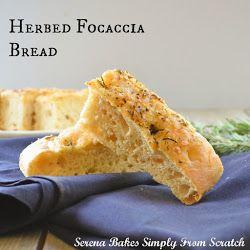 Yrttistä foccacia <br> Bread