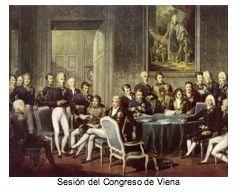 Text Box:   Sesión del Congreso de Viena