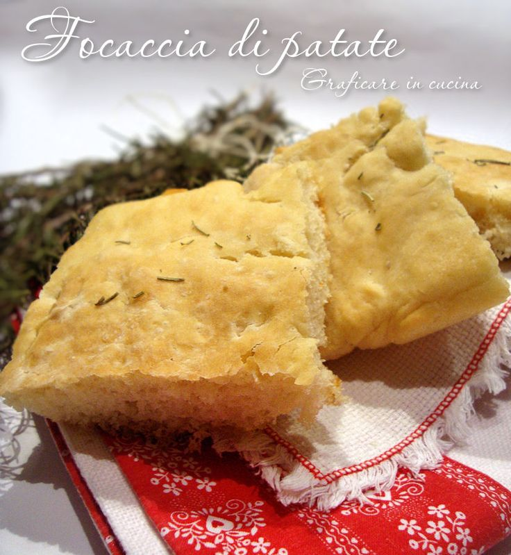 Focaccia di patate http://blog.giallozafferano.it/graficareincucina/focaccia-di-patate/