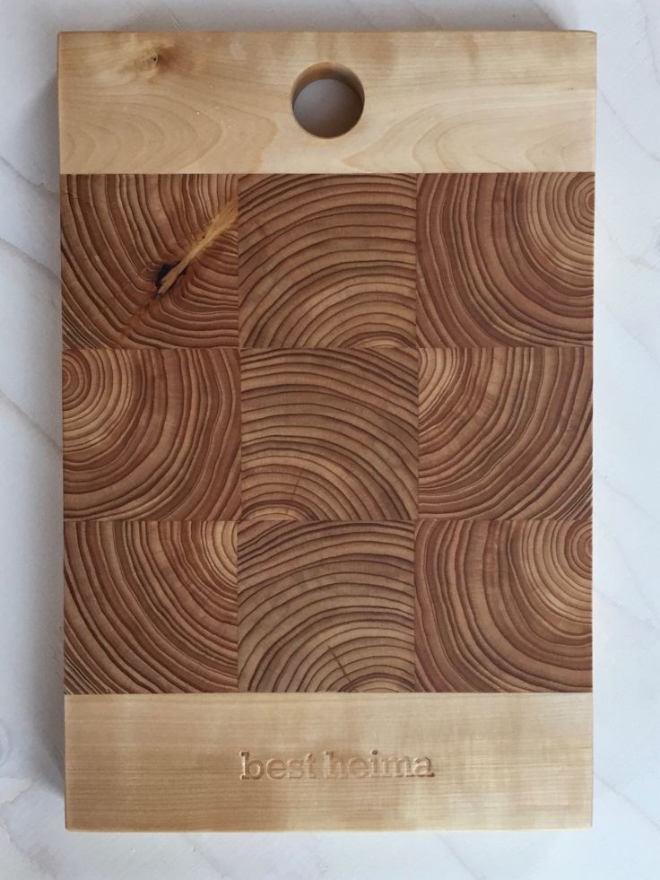 cutting board made from icelandic larch and birch