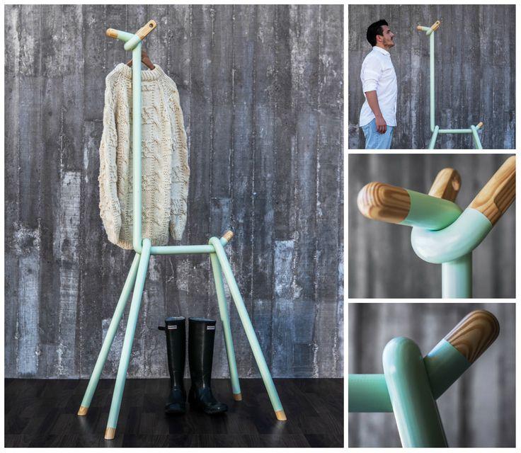 #DISEÑO La llama perchero, de André Simón Soneira, está realizada en pino macizo con pintura y barniz. + http://bit.ly/1QnN3Z7