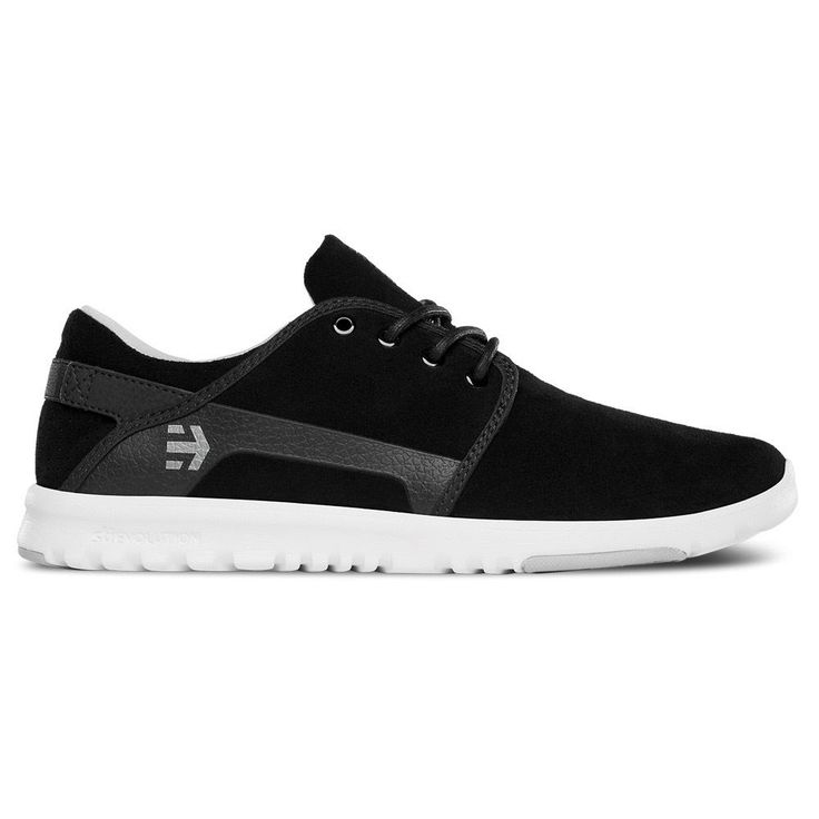 ETNIES SCOUT BLACK GREY WHITE MENS TRAINERS UK 6-10