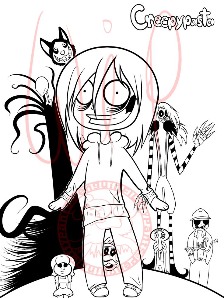 Coloring Pages Pinterest Pages And Creepypasta
