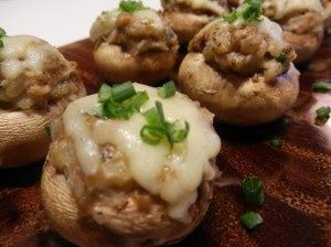 Gefüllte Pilze - eine gute Idee für das Abendessen heute Abend  #abend #abende...